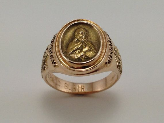 Hold for M - Gold Demolay Ring - Men's Masonic Jewelry - 10K Yellow