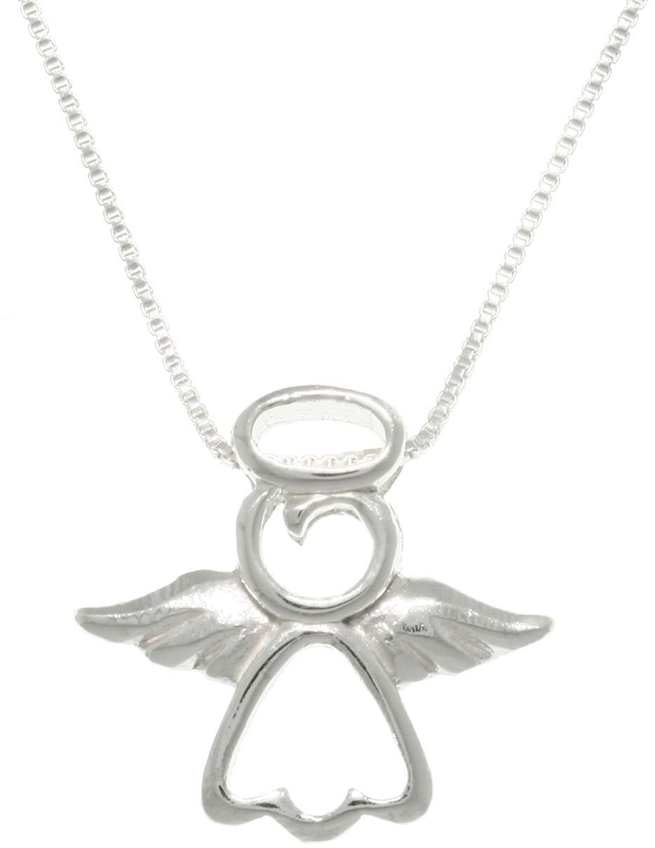 Jewelry trends sterling silver my little angel pendant with chain