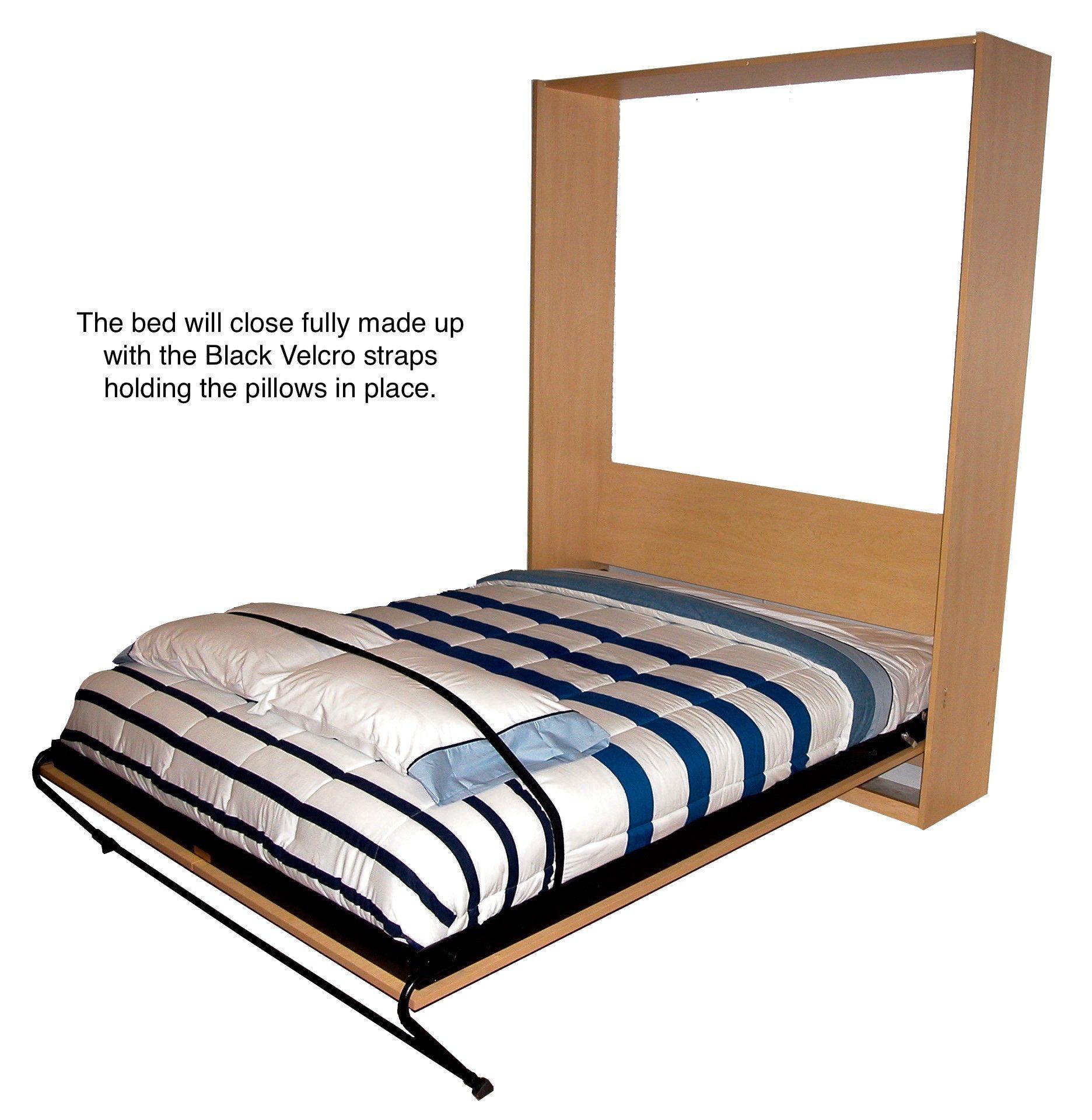 Upright Elite Velcro Straps Murphy bed, Furniture grade