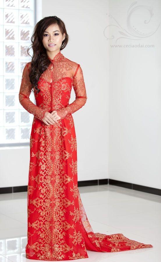 Www.ceciaodai.com Model: katie van le Vietnamese traditional wedding ...
