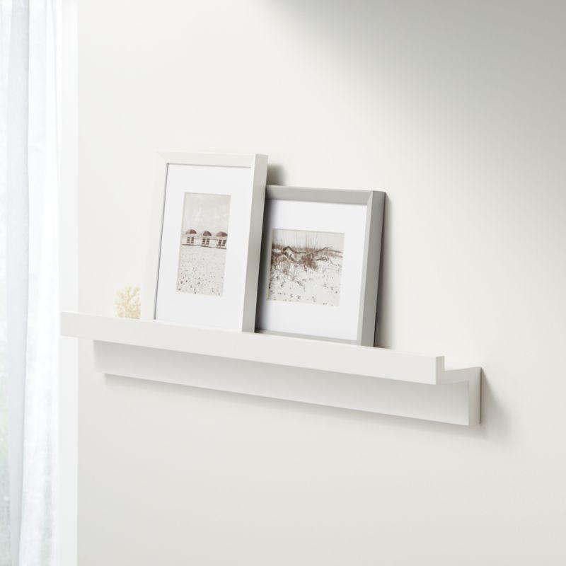 Carren 36 Floating White Ledge Shelf With Lip Reviews Crate And Barrel In 2020 Ledge Shelf Crate And Barrel Shelves