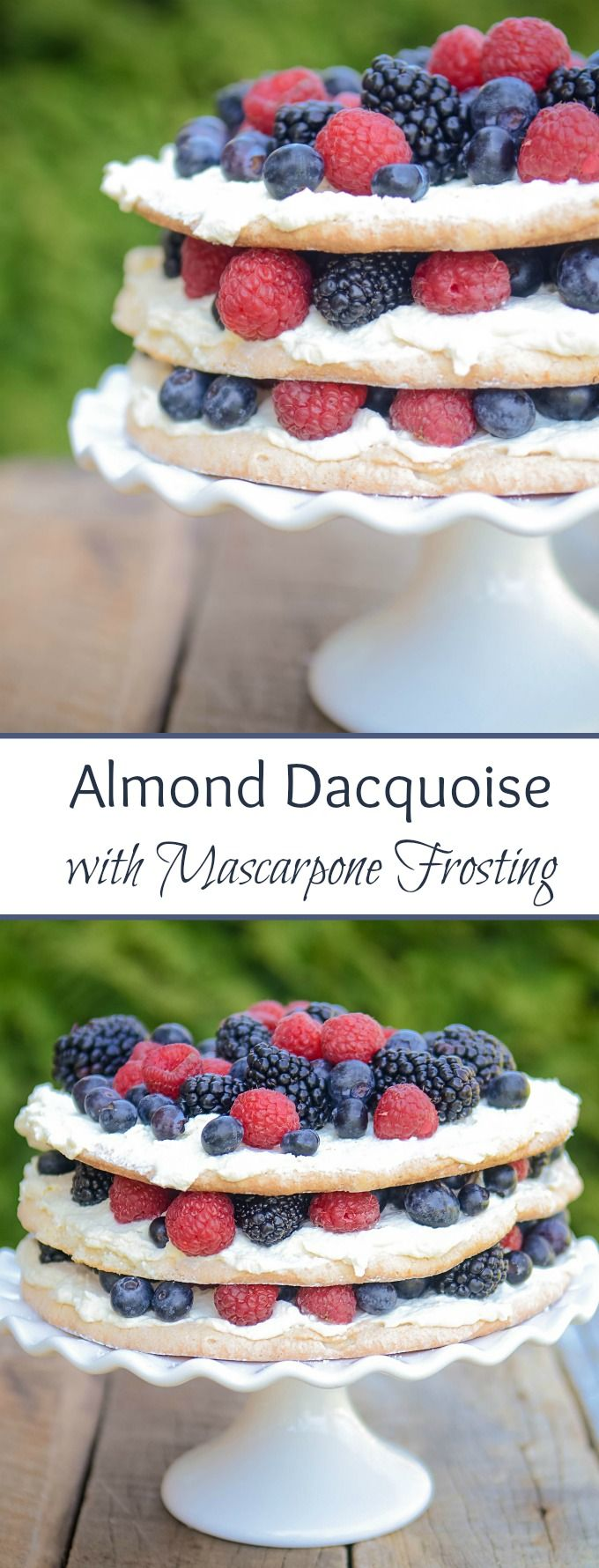 Photo of Dacquoise cake – is a super delicate almond meringue cake that is lighter than a…