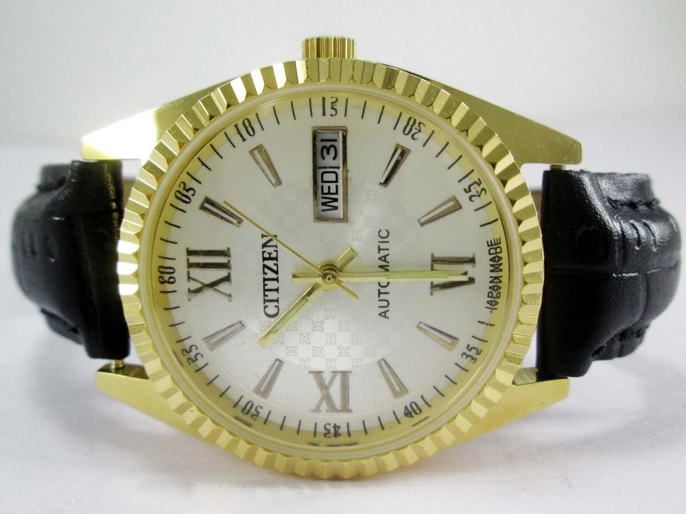VINTAGE GOLD PLATED GENTS CITIZEN AUTOMATIC DAY-DATE 21 JEWELS MENS WRIST WATCH #CITIZEN #Casual