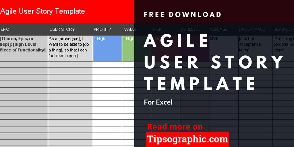 Agile User Story Template For Excel Free Download Agile User