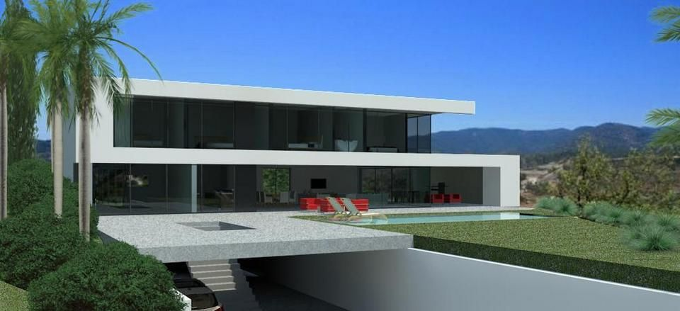 Modern villa architecture turnkey villas pinterest for Modern house villa