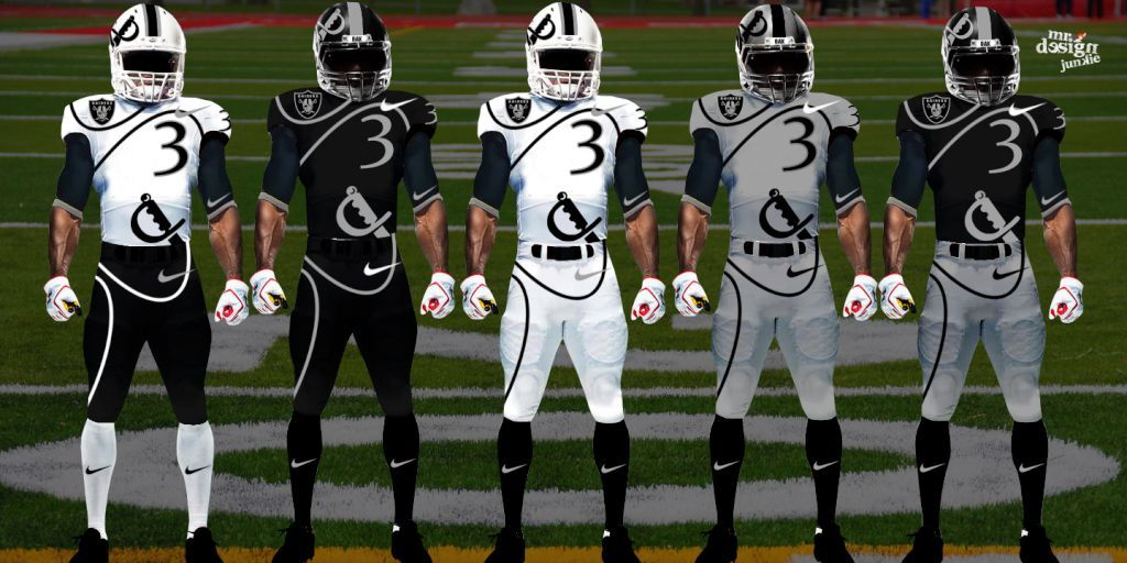 New Nike Nfl Uniforms Raiders