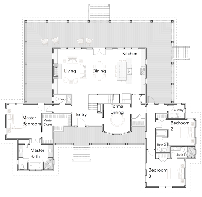 Large Open Floor Plans With Wrap Around Porches Rest Collection Flatfish Island Designs Coastal Home