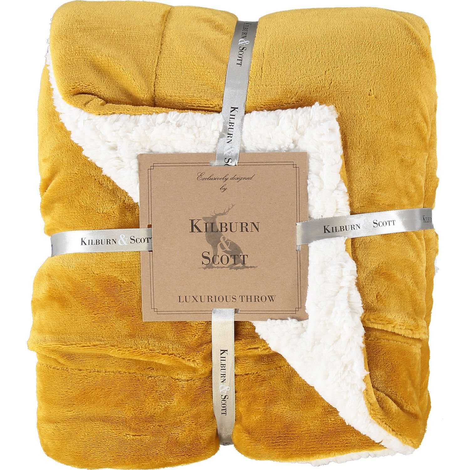 Burnt yellow throw 152x177cm gifts for the professional
