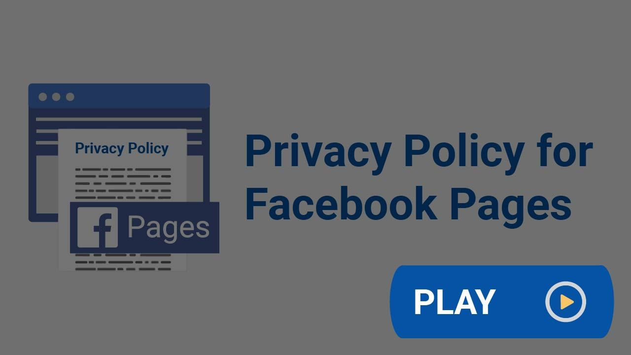 Privacy Policy For Facebook Pages Privacy Policy Privacy Policies