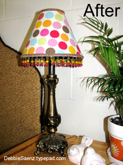 Mod Podge Monday Lamp Shade Redo With Fabric Mod Podge