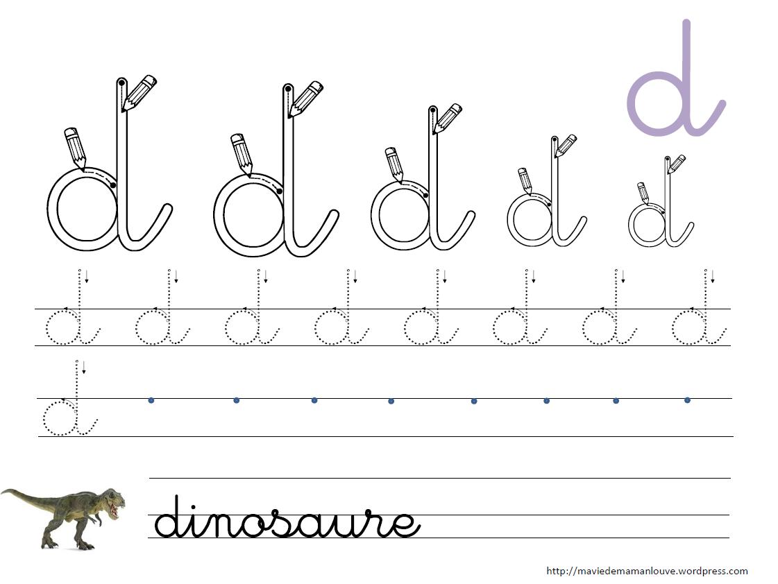 Célèbre lettre d cursive   Pré-écriture   Pinterest   Lettres, Écrire et  PD26