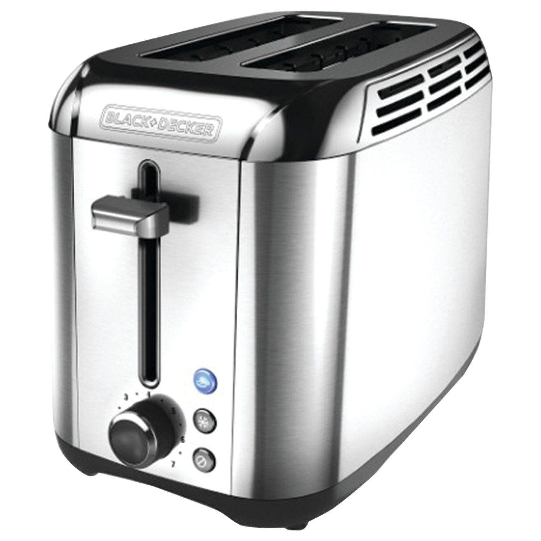 steel bagel stainless slice pin black toaster toasters decker