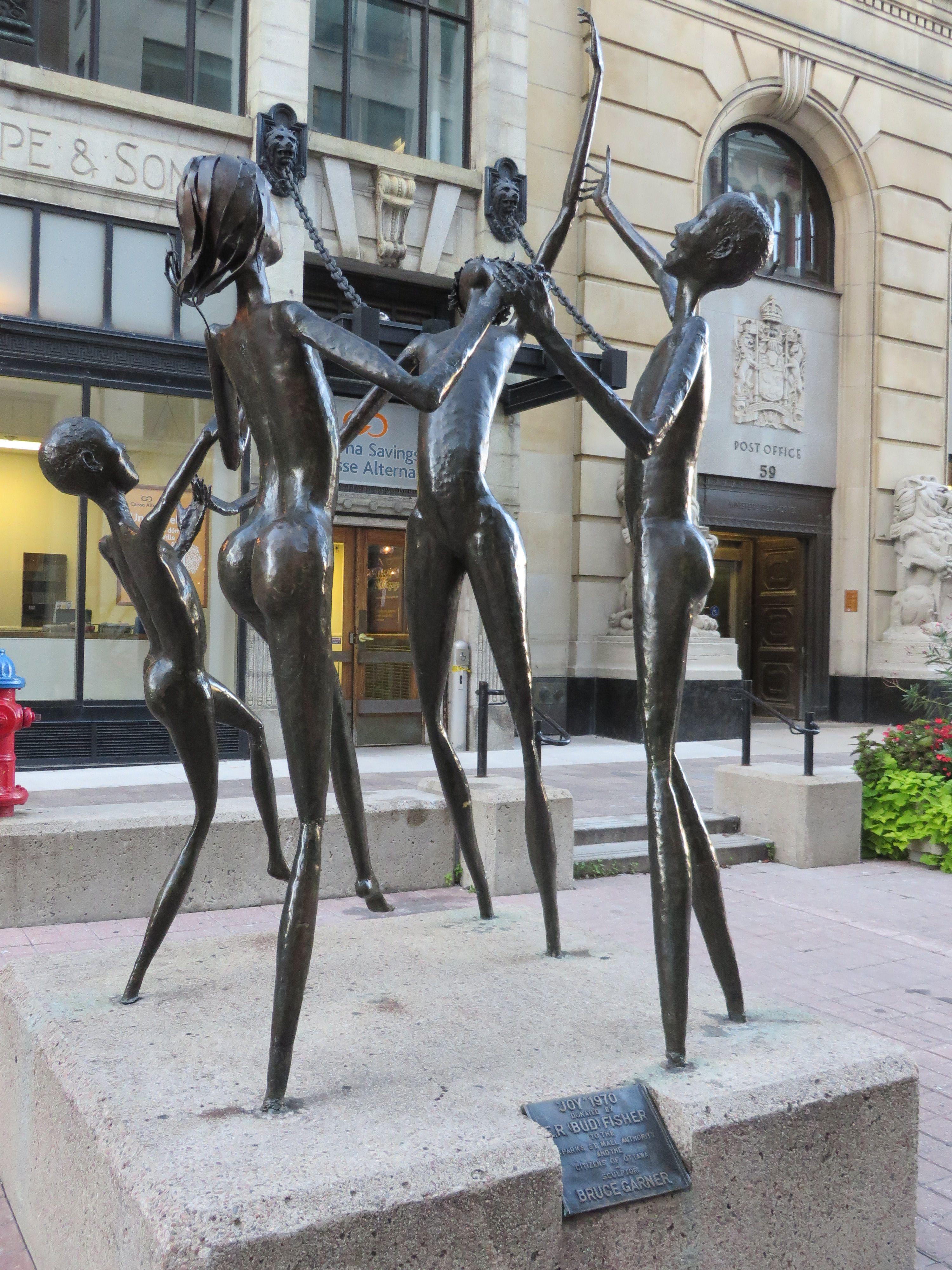 'Joy' copper sculpture at Sparks Street. Bruce Garner, 1970. Ottawa