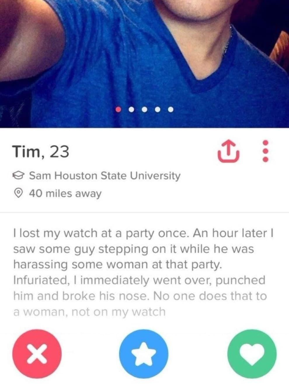21 Tinder Profiles That You D Swipe Right On Just Because Of The Quality Bio Tinder Profile Funny Bio Tinder Humor