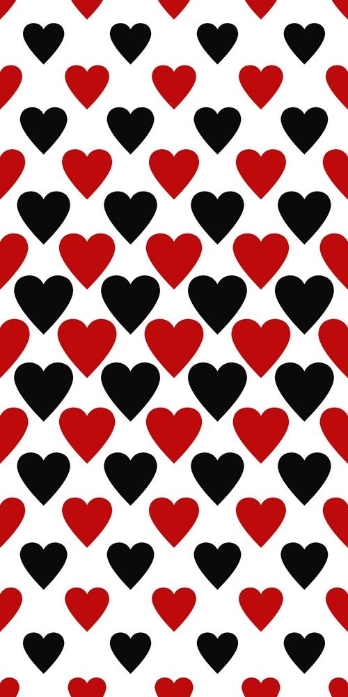 Seamless Red And Black Heart Pattern Background For Valentine 39 S Day Heart Pattern Background Red And Black Background Red And Black Wallpaper
