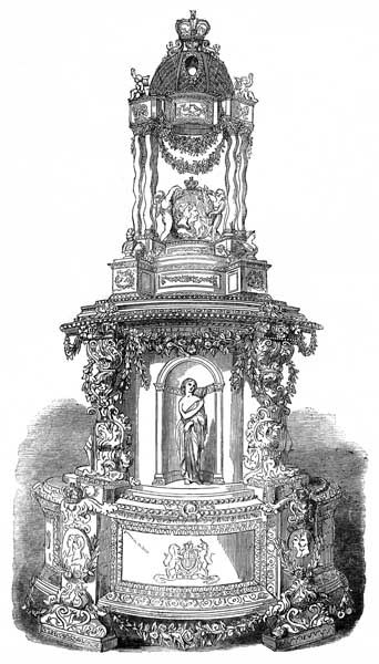 1858 Princess Victoria and Crown Prince Frederik wedding cake