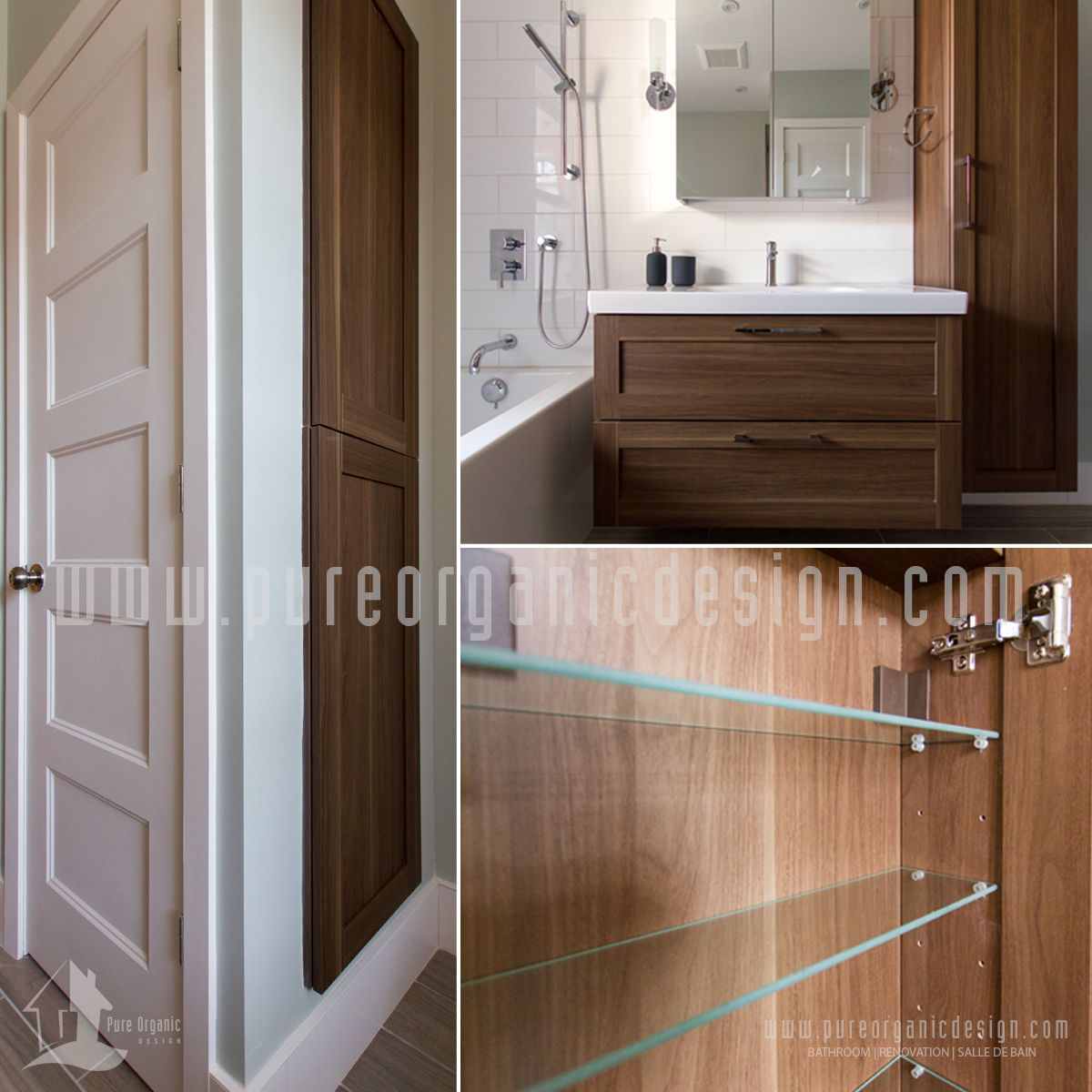 Bathroom design and renovation project realized by pure organic
