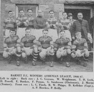 Barnet team group in 1946.