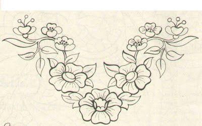 Pin De Laura Santanilla En Dibujos De Flores Para Bordar Pinterest