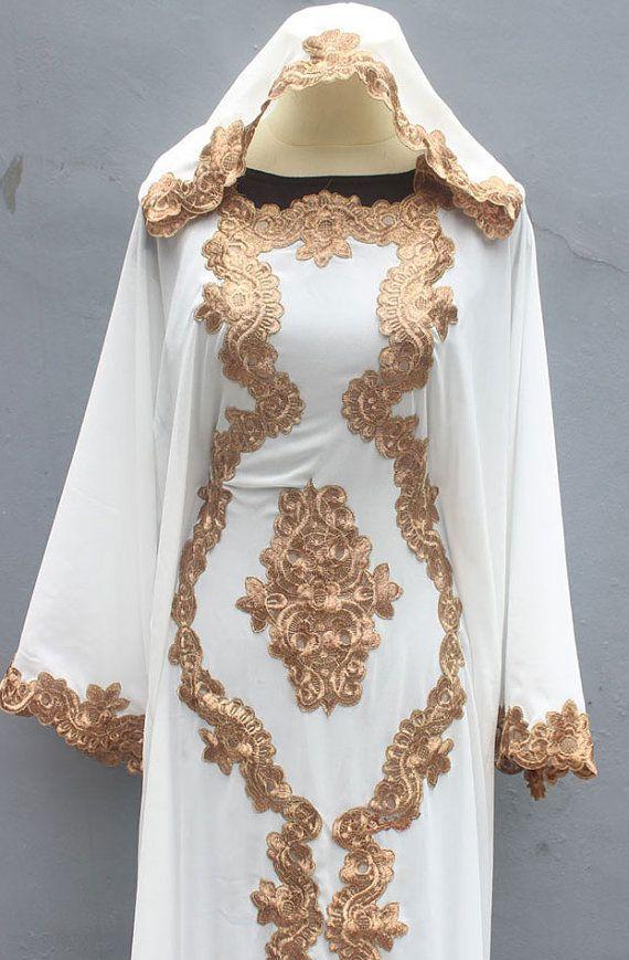 c533749b5be Kaftan Abaya Dubai White Caftan Maxi Dress Bohemian by Yosika ...