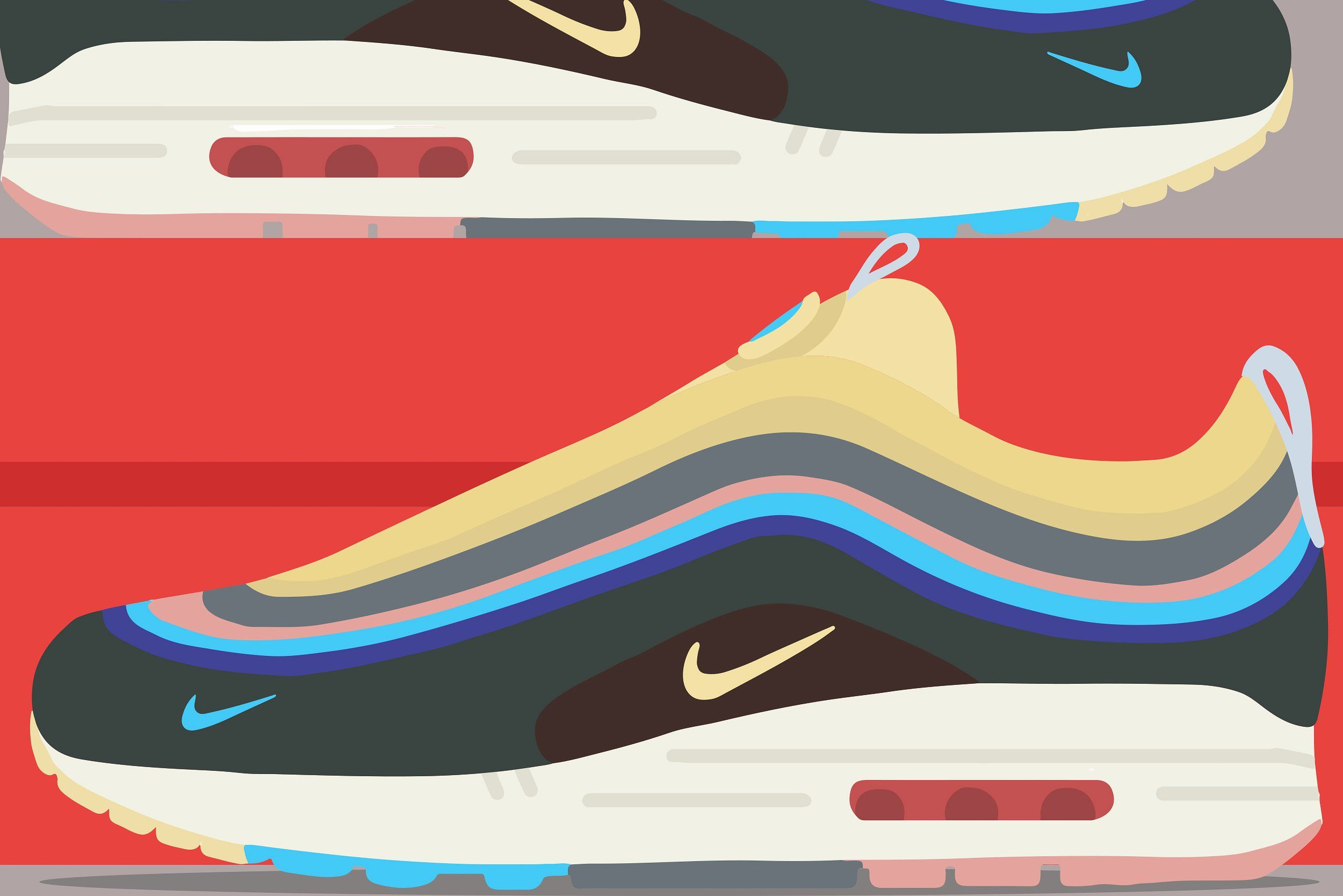 Nike Air Max 97 1 Max Air Wotherspoon Sean Air Max 97 Sneakers Illustration Nike Air Max 97