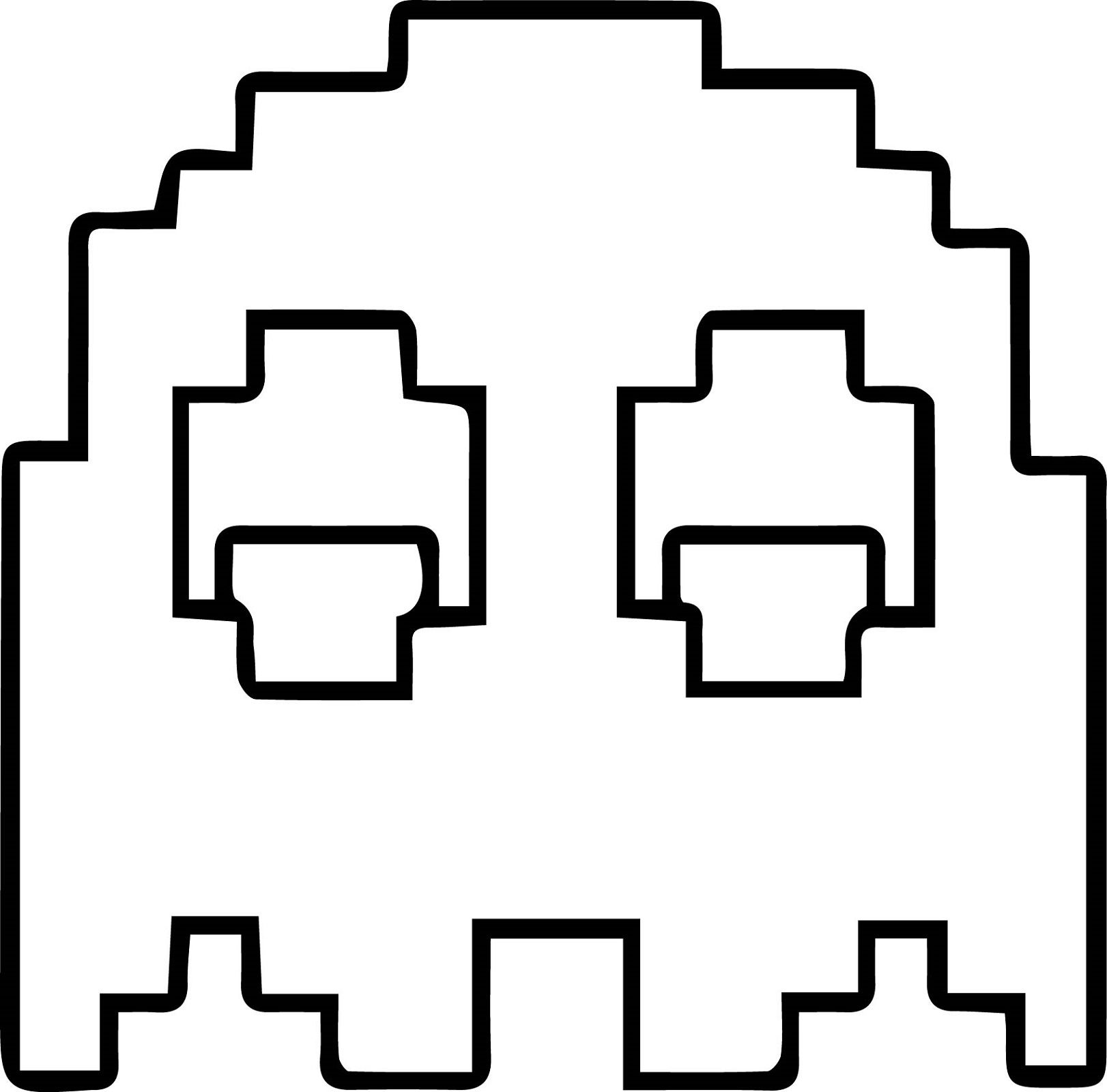 Pacman Coloring Pages Ghostly Pixelated Educative Printable Coloring Pages Coloring Pages To Print Printable Coloring Pages