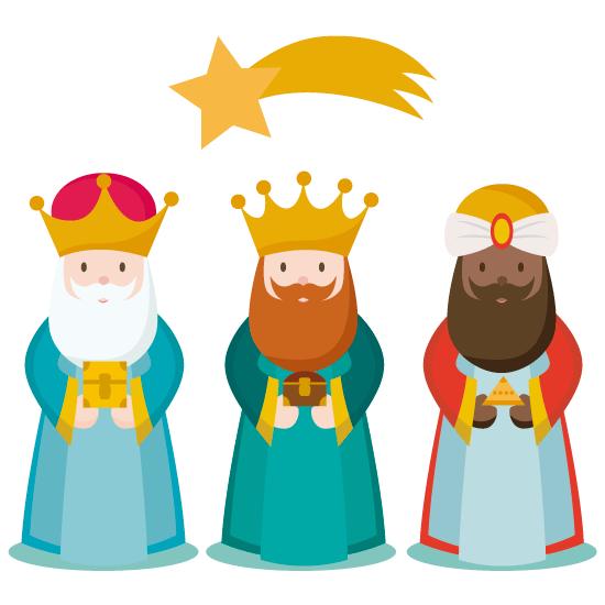 Los 3 Reyes Magos Vector Worship Design Christmas Nativity