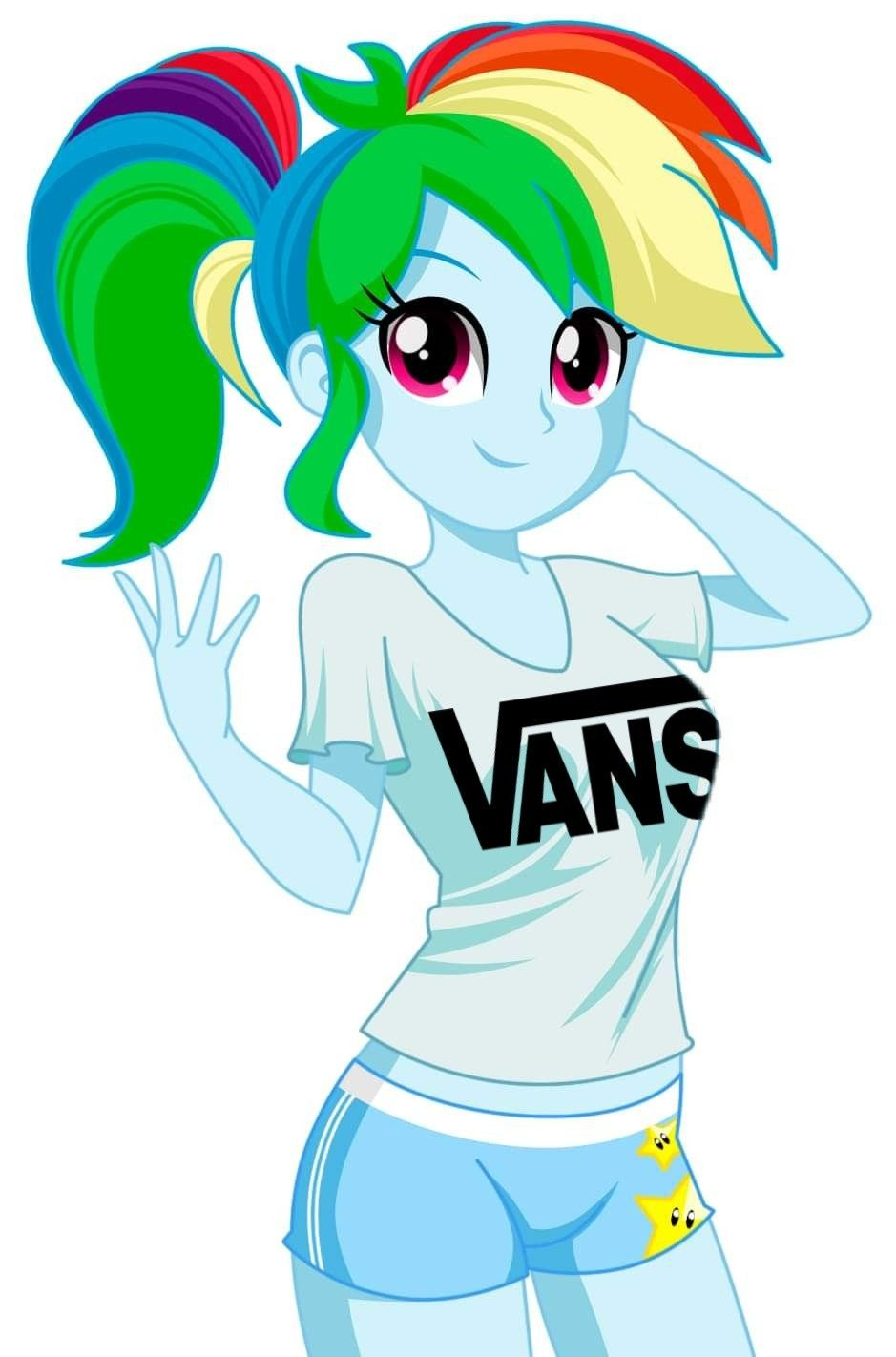 Rainbow Dash Humana Vans With Images My Little Pony Pictures
