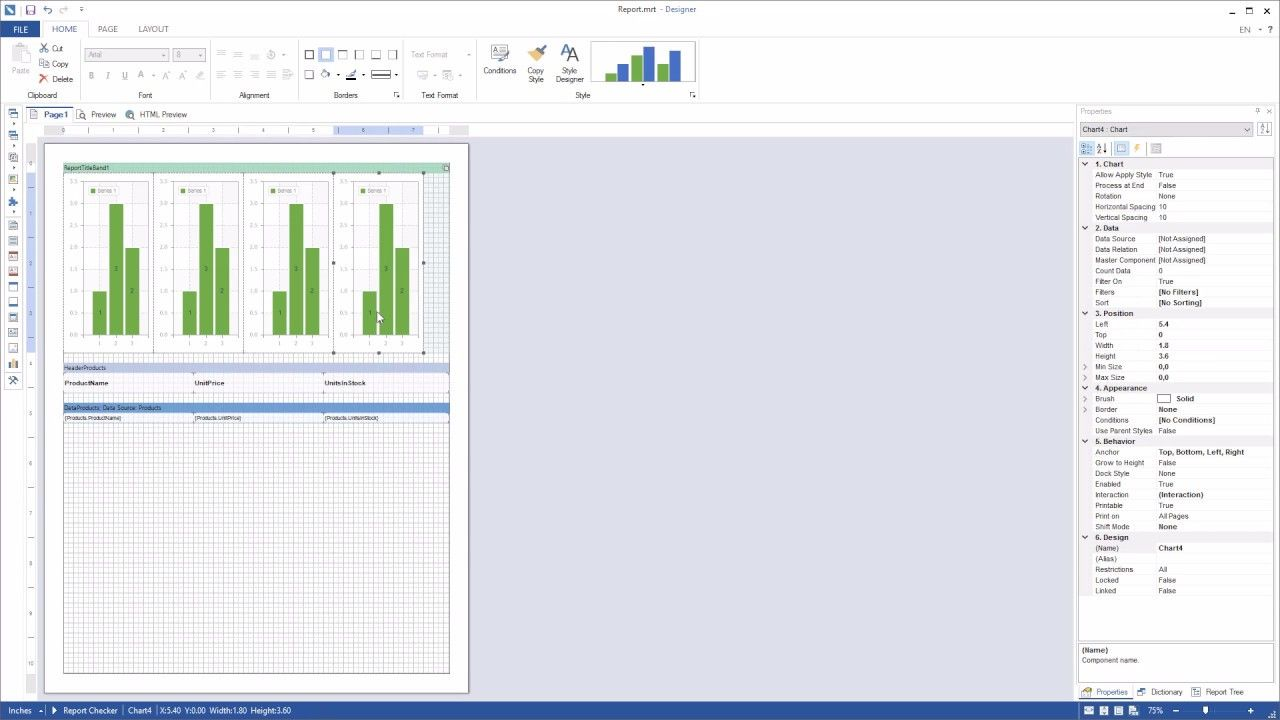Net Reporting Tools Using Anchor Property For Textboxes And Charts On Property Chart Anchor
