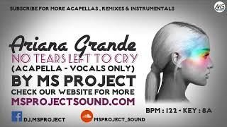 Ariana Grande - No Tears Left To Cry (Acapella - Vocals Only