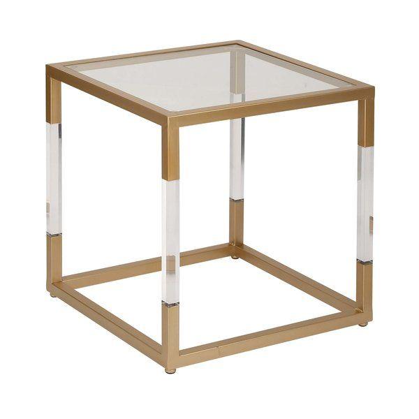 Cole Grey Metal Glass And Acrylic End Table Wayfair Fox - Wayfair glass side table