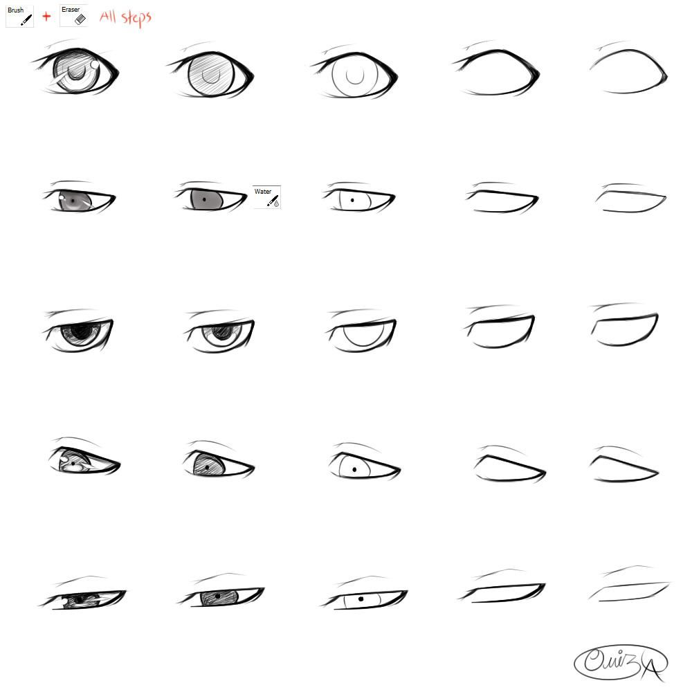 How To Draw Boy Anime Heads Step By Step For Beginners How To Draw Anime Eyes Eye Drawing Tutorials Eye Drawing