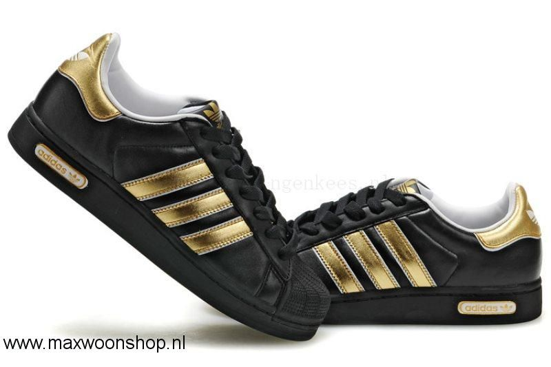 A100292 Adidas Populair Originals Superstar Zwart Goud ...
