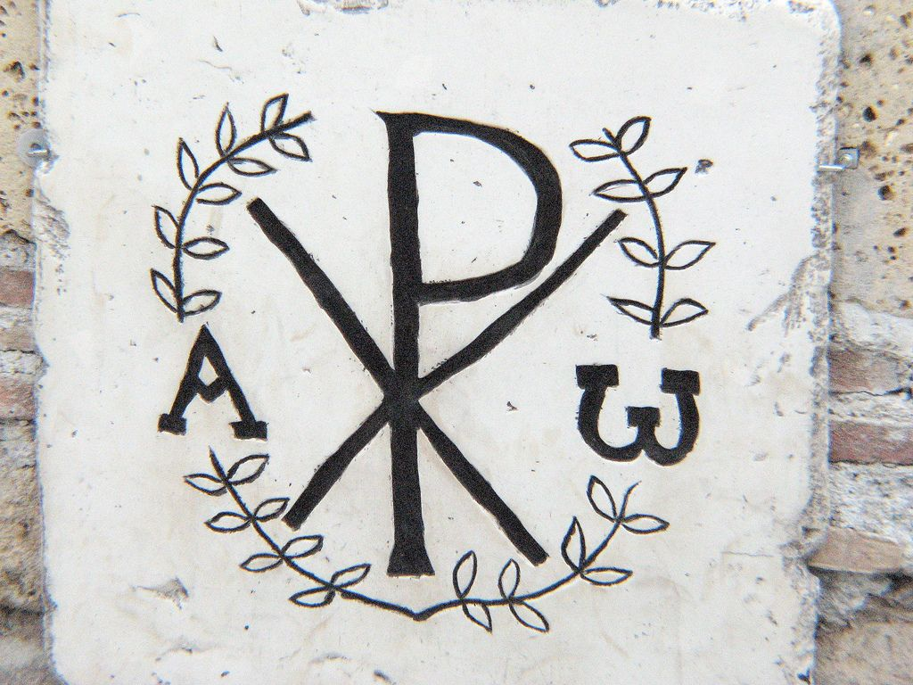 Early christian symbols monogram of christ catacombs and tattoo domitilla catacombs rome circa 2nd 3rd c alpha and omega a chi rho tattoochristian symbolsthe buycottarizona