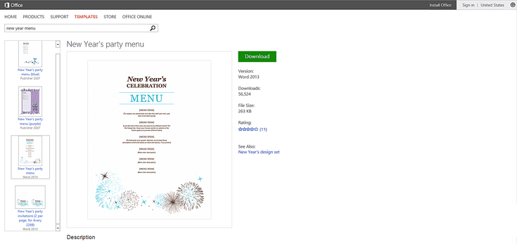 Celebrate the New Year With Free Templates for Microsoft