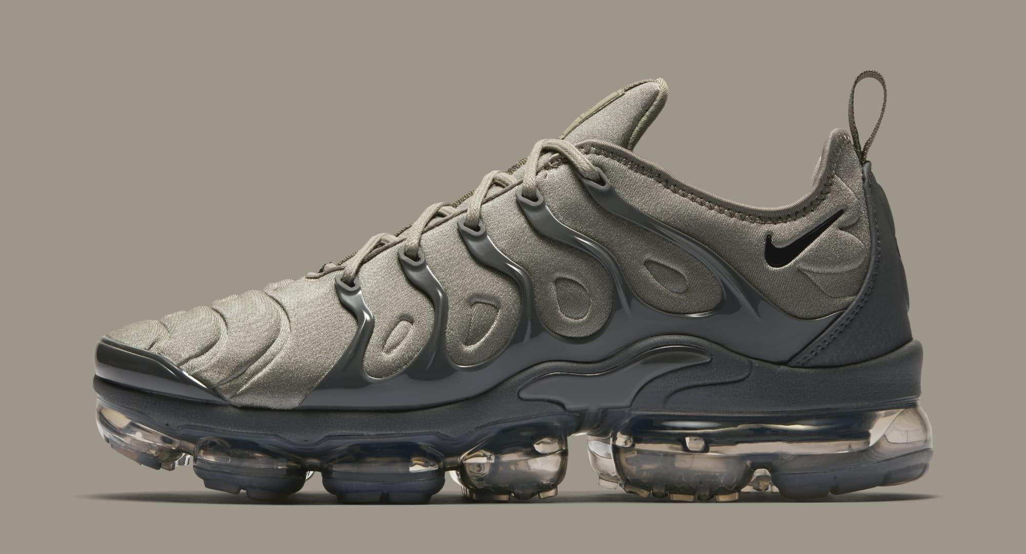timeless design c8ee4 169a2 Nike VaporMax Plus  Dark Stucco White Dark Grey Anthracite  AT5681-001  (Lateral)