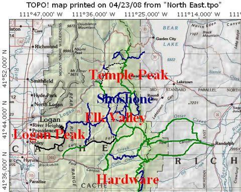 Bear Lake Utah ATV Trail Maps   Atv, Bear lake idaho, Atv riding
