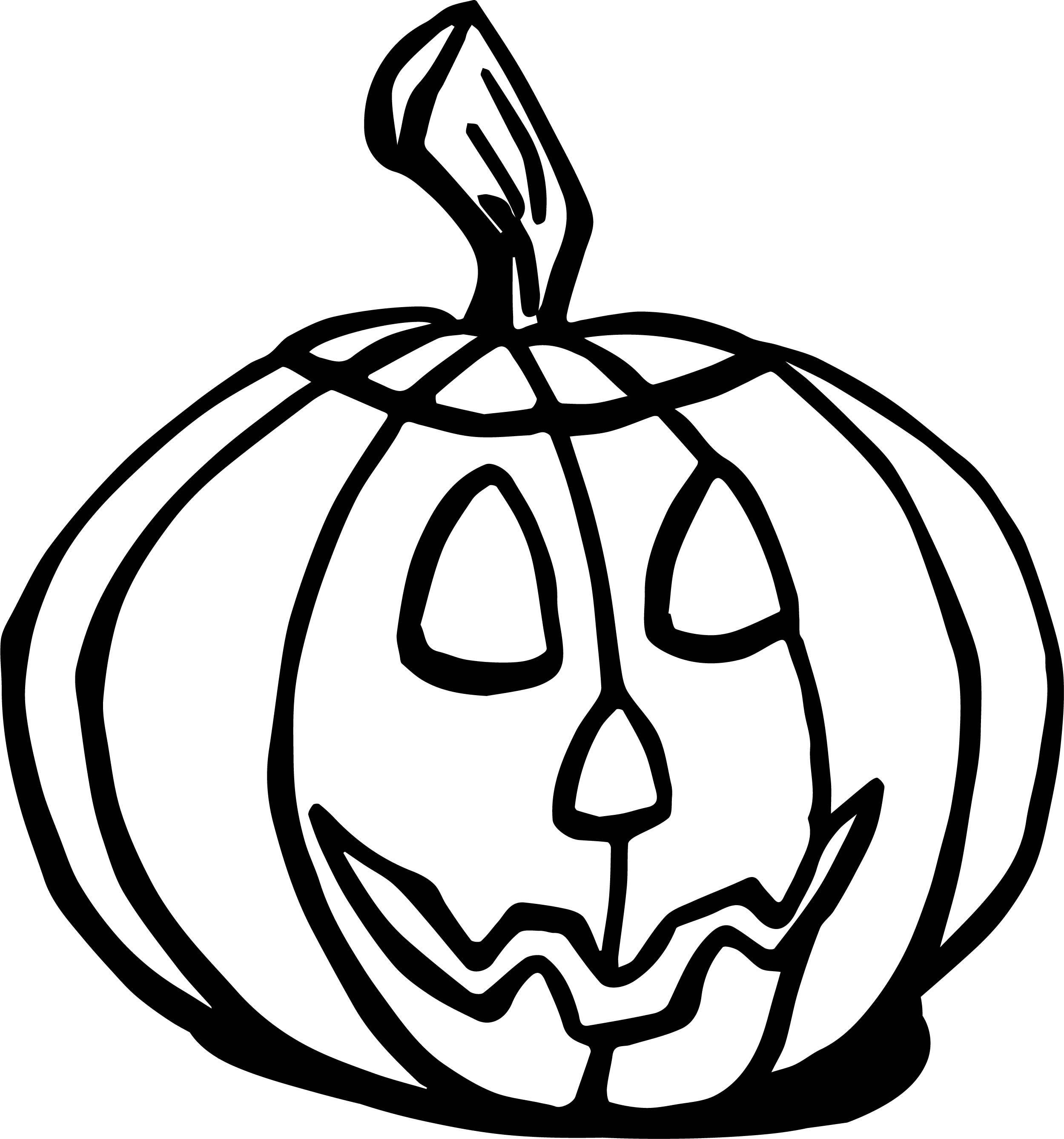 24++ Pumpkin coloring pages small info