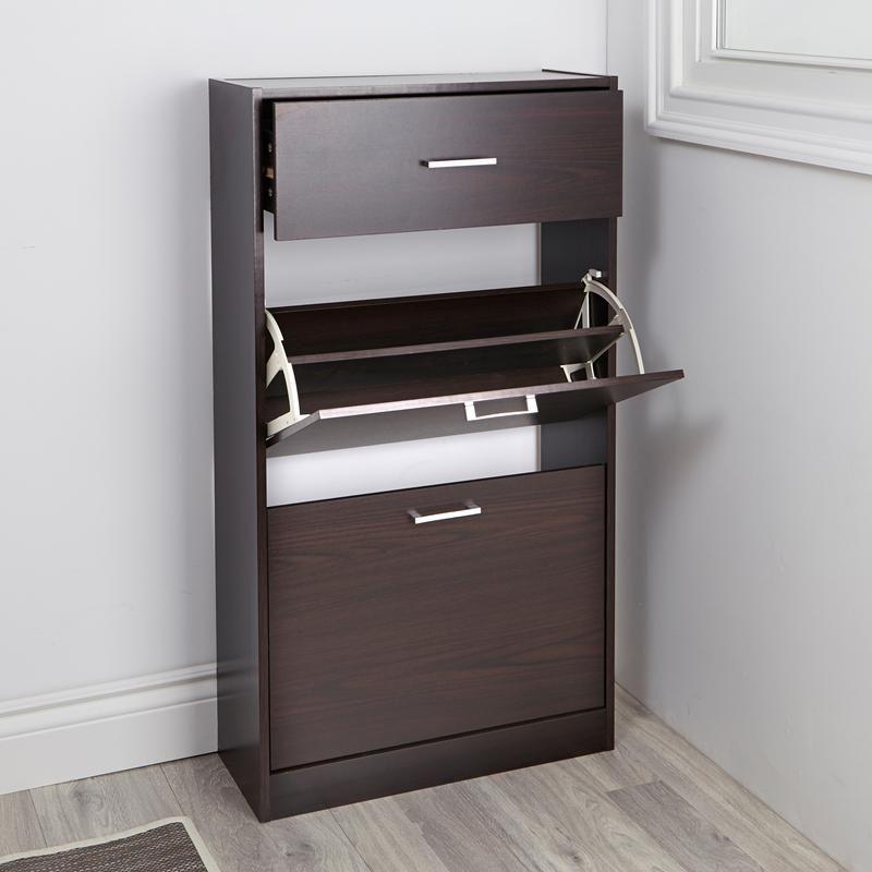 Ksp Polo Shoe Cabinet 60 X 24 X 110 Cm Espresso Shoe Storage
