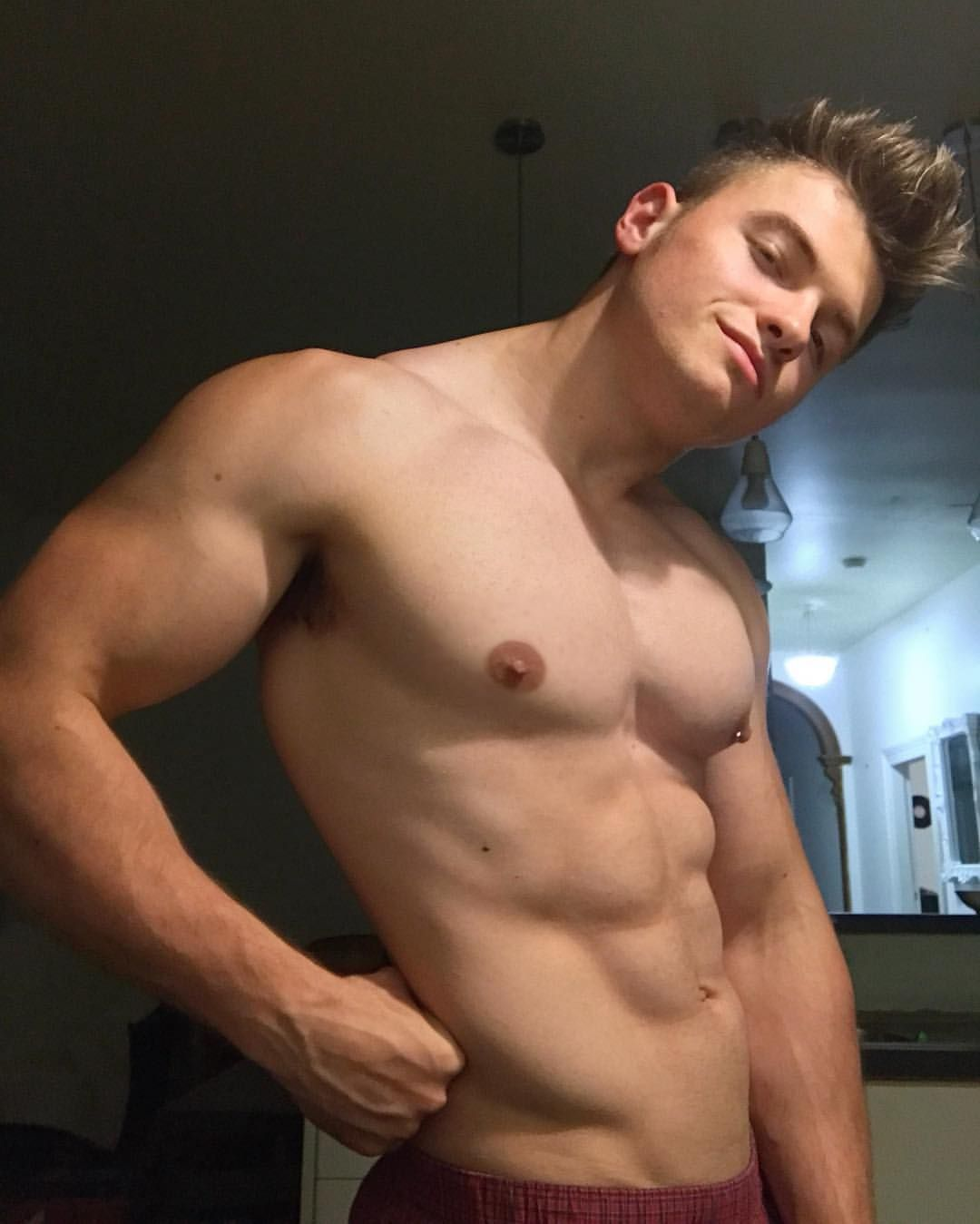 cute hot hunk shirtless