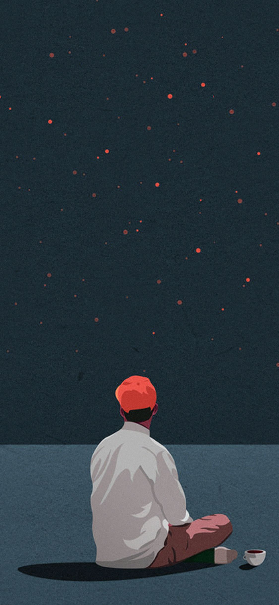 Ax68 Coffee Boy Cover Illustration Art Red Via Http Iphonexpapers Com Wallpapers For Iphone X Art Wallpaper Illustration Art Cartoon Wallpaper