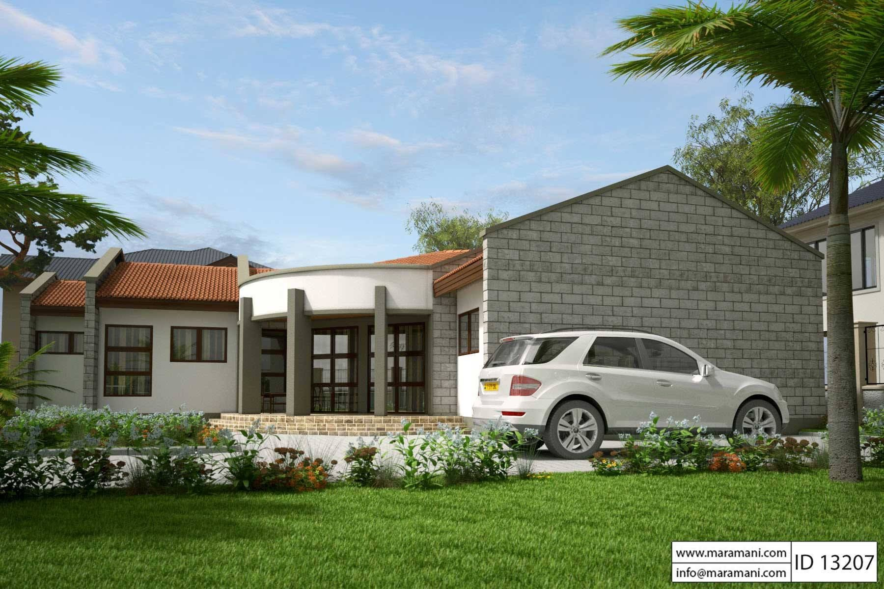 Low Budget Modern 3 Bedroom House Design Id 13207 Plans By Maramani House Design Budget Modern Luxury House Plans