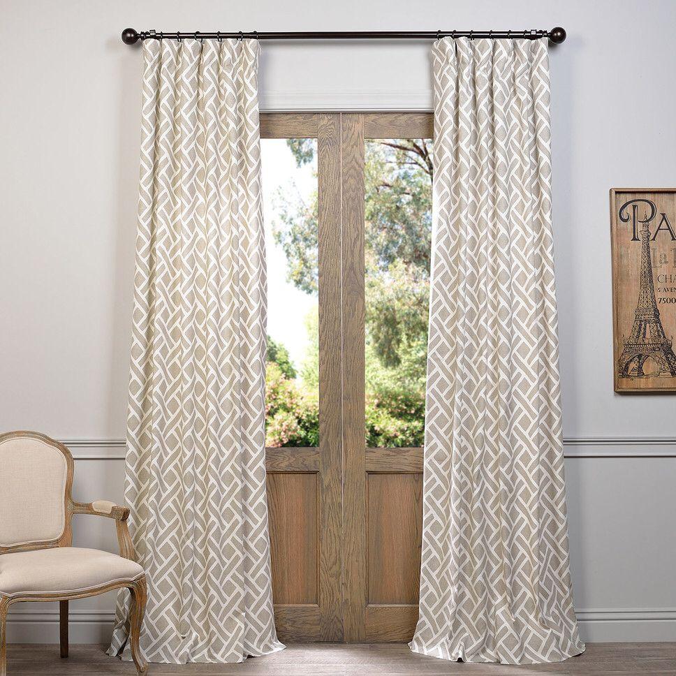 Geometric rod pocket curtain panel amoreena pinterest rod