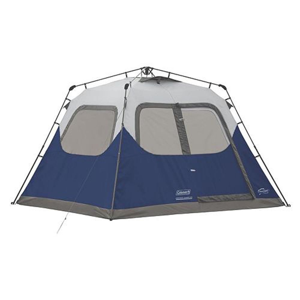 Coleman 6-Person 10u0027 x 9u0027 Instant Cabin Family C&ing Tent w/ Built-In Rainfly  sc 1 st  Pinterest & Coleman 6-Person 10u0027 x 9u0027 Instant Cabin Family Camping Tent w ...