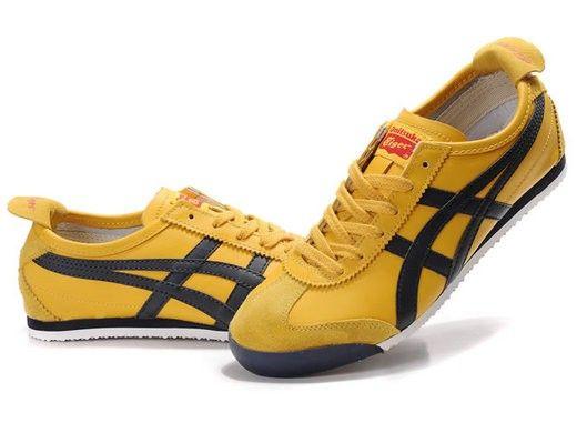 half off 4a76f 64ff9 Asics Onitsuka Tiger, Mexico 66, Yellow/Dark-Blue | Shoelogy ...