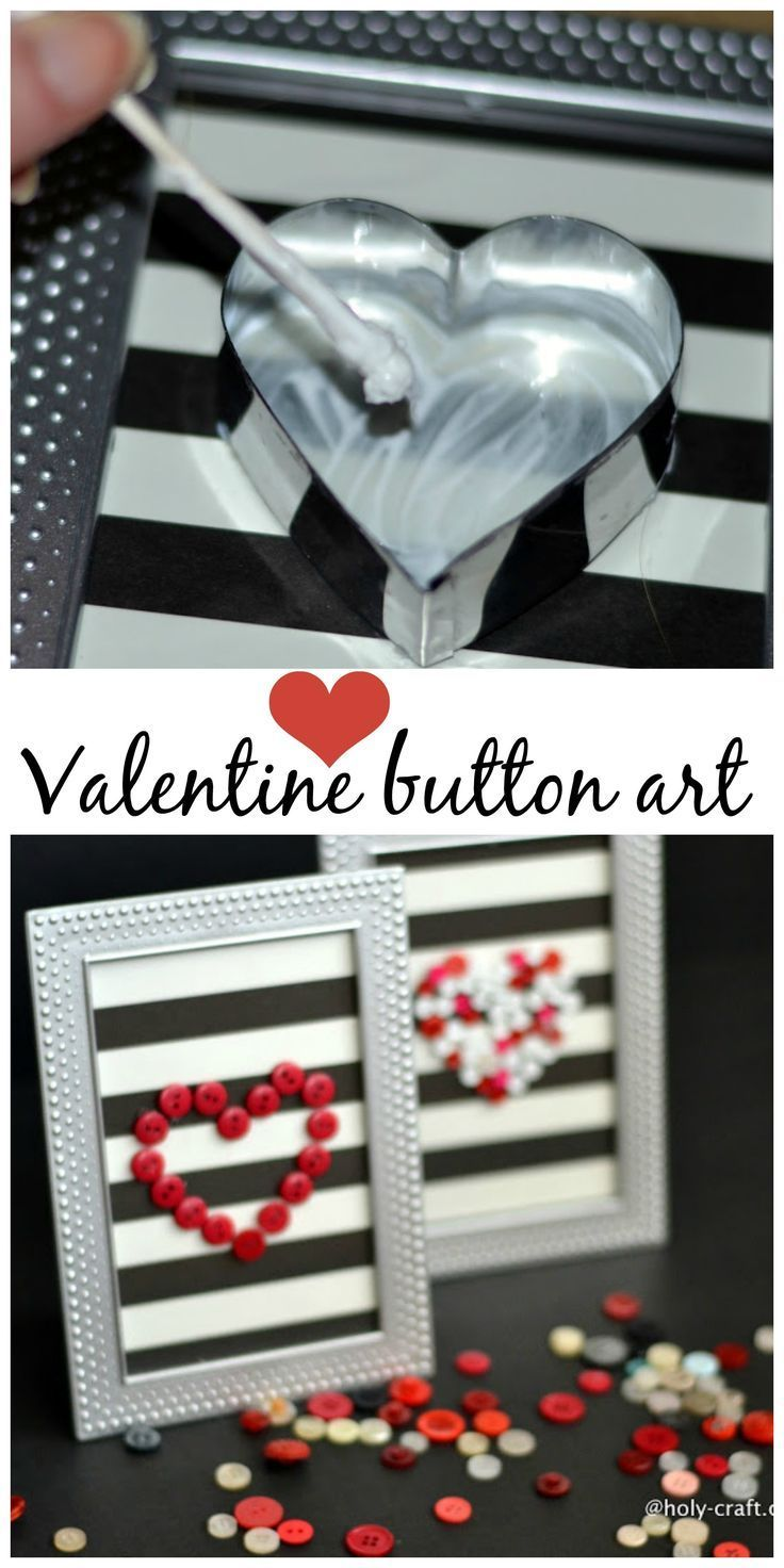 Photo of How to make Valentine's day button framed art work – Debbiedoos