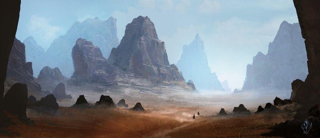 Arid Desert Landscape By Jjpeabody Western Desert Create Your Own Roleplaying Game Books Environment Concept Art Desert Landscape Painting Fantasy Landscape