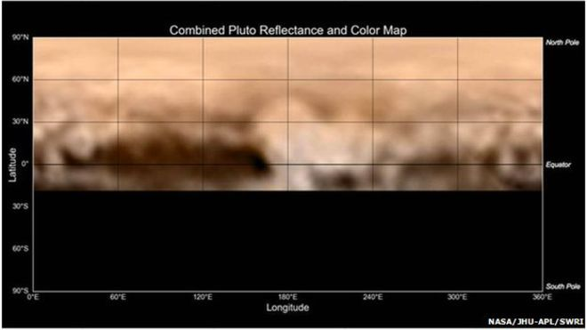 Pluto Map Shows Whale Of A Feature New Horizons Pluto