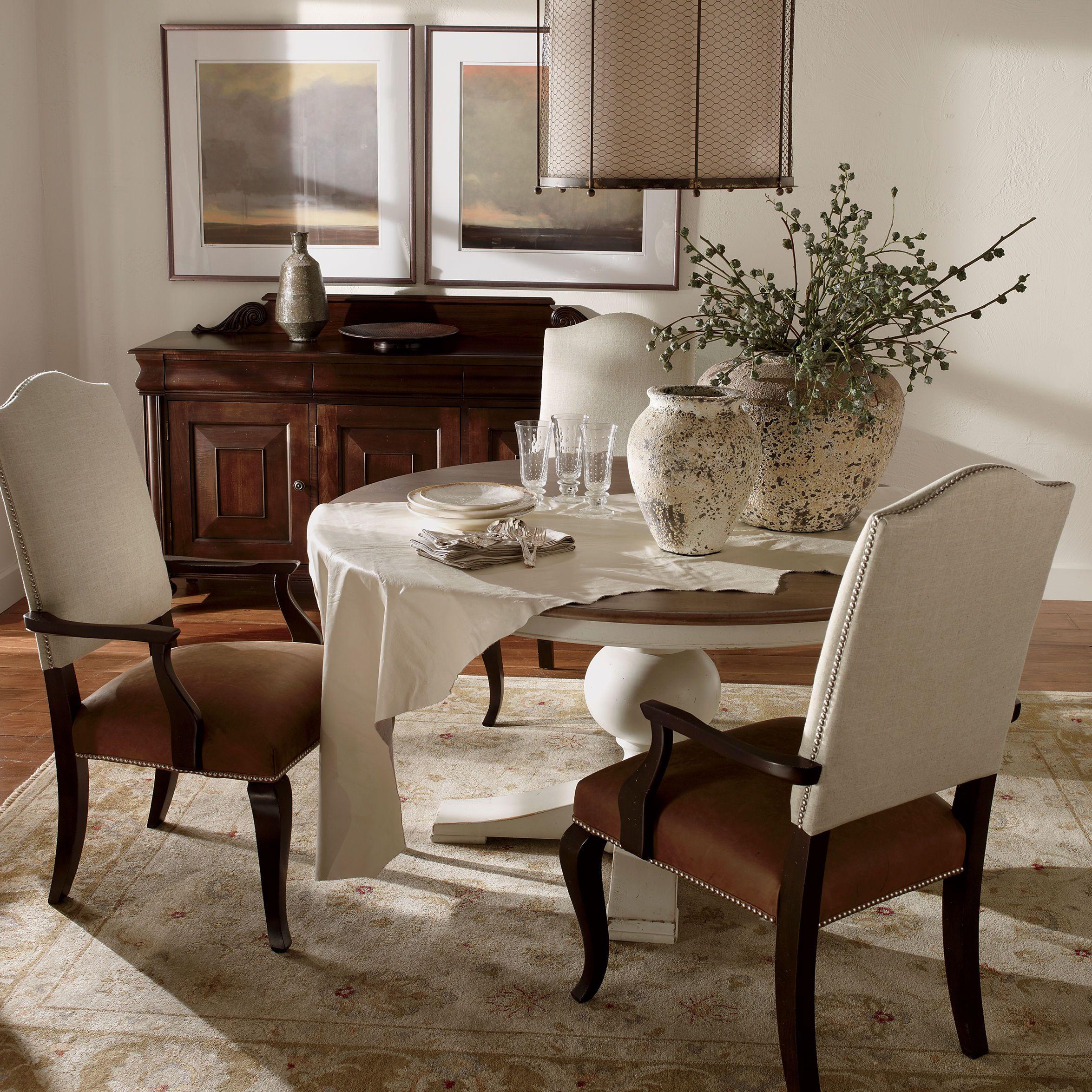 Ethan Allen Neutral Dining Room Saxton Buffet