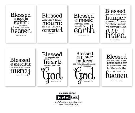 The Eight Beatitudes: